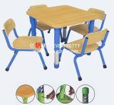 Square Adjustable Kindergarten Furniture Set for Children