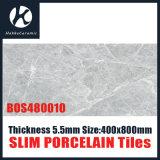 Light Grey Color 400X800mm 5.5mm Thickness Slim Porcelain Tiles