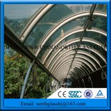 Guaranteed Safe Curved Skylight Clear Toughened Glass