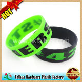 Custom Debossed Color Filled Silicone Wristband (TH-05127)