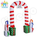 Inflatable Christmas Gift Crutches LED Door Arch