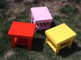 Children Small Colorful Stool with Solid Wood (M-X1067)