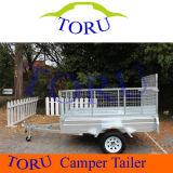 Manufacturer Single Axles Box Trailers with Mesh Cage