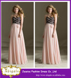 2014 New Elegant Chiffon Plus Size Floor Length Bridesmaid Dress/ Formal Gown