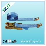 Sln 4ton*8m 50mm Ratchet Tie Down Strap with Double J Hooks Ce GS