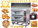 Stainless Steel Electric Bakery Deck Oven for Baking Pizza with Stone (WDL-2-4)