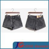 Girls Denim Brown Casual Shorts (JC6077)