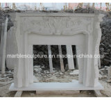 Lowest Price Home Decoration White Marble Fireplace (SY-MF132)