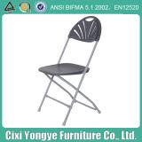 Grey Metal Frame Plastic Foldng Chair for Weddings