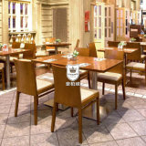 Restaurant Bright Dining Table Set Made by Solid Wood