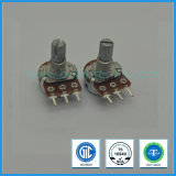 9mm 100k Ohm Rotary Potentiometer with Metal Shaft for Audio Equipment