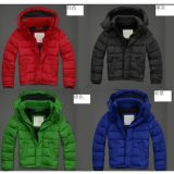Thick Down Jacket Navy Winter Outwear