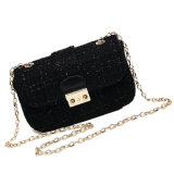 The Classic Black Women Fashion Lady Flap Chain Bag
