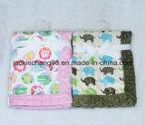 Animal Designs Printed Micro Mink Baby Blanket