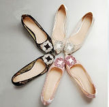 Ladies Fashion Flat Shoes Lace Flat Casual Shoes (HCY02-1465)