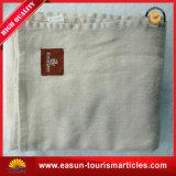 Polyester Solid Polar Fleece Plush Baby Blanket Satin Trim