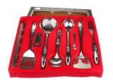 Stainless Steel Kitchen Accessory Set with Collection Tray