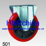 Red PVC Heavy Duty Industrial Rigid Caster