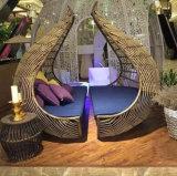 Bird′s Nest Sunshine Lounge Beach Circular Dome Garden Furniture Rattan Sunbed T585