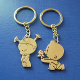 Lovely Human Keychain with Gold Plating (GZHY-KC-018)