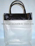 Eco-Friendly Black and White PVC Bag with Handle