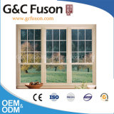Three Railways Aluminium Sliding Window with French Grill Design