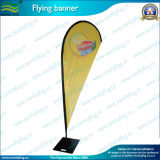 120GSM Knitted Polyester Teardrop Flag with Square Plate Base (J-NF04F06002)