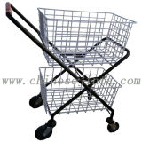 Double Layer Wire Basket Shopping Trolley (JT-G15)