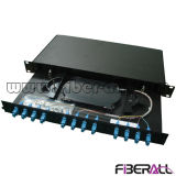 Fiber Optic Patch Panel Rack Mounted Drawer Type 12 Ports