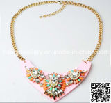Fashion Jewelry/ New Design Shourouk Style Resin Stone Necklace (XJW13238)