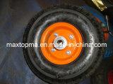 Wheel Barrow Rubber Wheel with Steel Rim