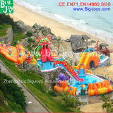 Giant Inflatable Water Park on The Beach (Mobile Water Park-006)