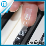 Plastic Removable Waterproof Piano and Keyboard Label Transparent Sticker