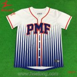 Healong Sporstwear Dye-Sublimation Printing Applique Logo Baseball Jersey