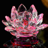 Pink Crystal Lotus Flower for Home Decoration