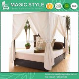 New Style High Quality Rattan Sunbed Garden Sunbed Wicker Daybed (Magic Style)