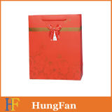 Red Color and Golden Stamping Wedding Paper Gift Bag