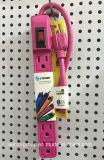 Colorful Design American Standard Power Strip Extension Socket