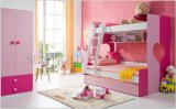 Modern Childish Home Bedroom Furniture Pinky Kids Bunk Bed (SZ-BF802)