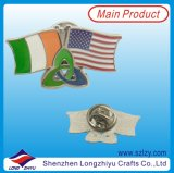 Custom Metal Soft Enamel Two Countries Friendship Flag Badge