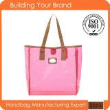 Wholesale Shopping Pink Transparent PVC Promotional Tote Bag