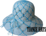 Raffia Paper Bucket Hat Baby Hat