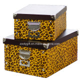 Zebra / Leopard Printing Home /Office Stationery Snap Paper Storage Foldable Box