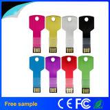 2016 Wholesale Custom Logo Metal Key Shape 8GB USB Stick