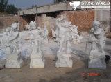 Carrara White Marble Flower Pot for Garden/Marble Sculpture for Garden