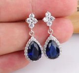 Fation Cubic Zircon Teardrop Diamond Earring jewelry