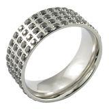 Men 925 Sliver Wedding CZ Ring