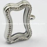 Hot Sale Stainless Steel Zirco Glass Locket Pendant
