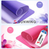 High Quality Printed Fabric TPE Yoga Mat