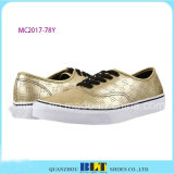 New Design Waterproof Gold Casual Shoes